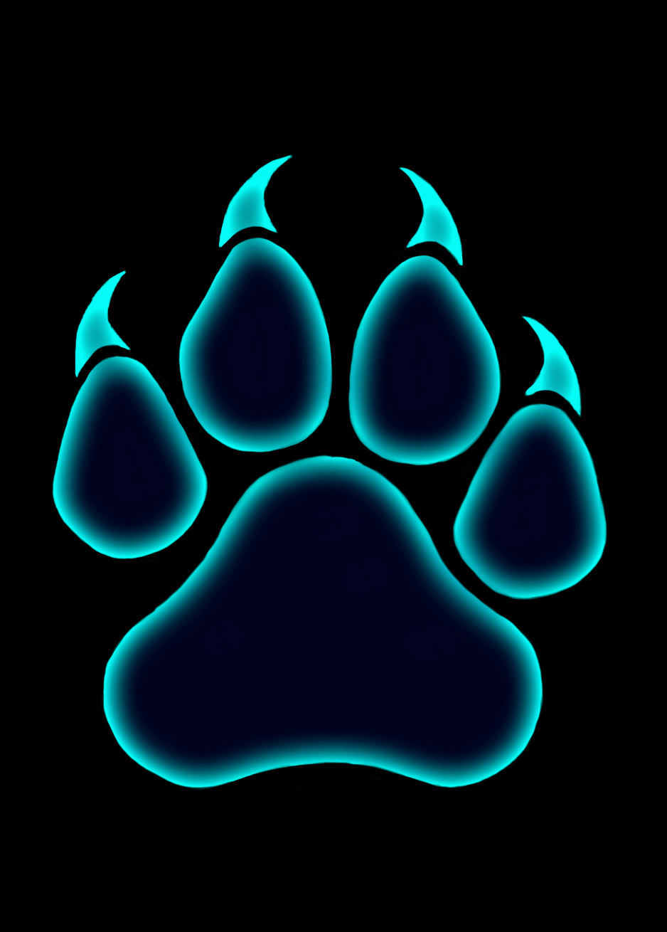Blysster Press paw print logo